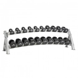 2-TIER HORIZONTAL DUMBBELL RACK (10 PAIRS)